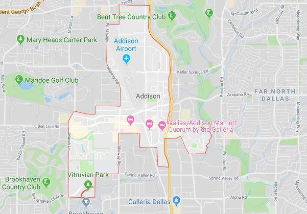 addison plumbing service coverage area